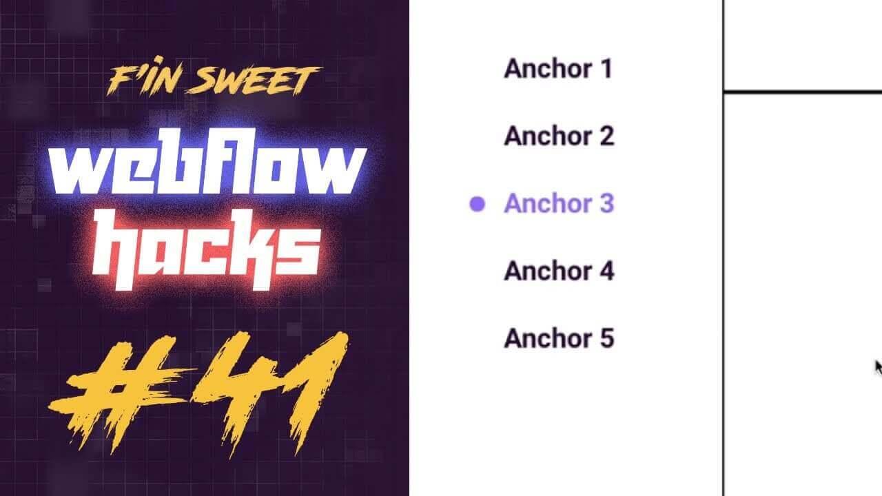 Add an active dot to an active anchor link