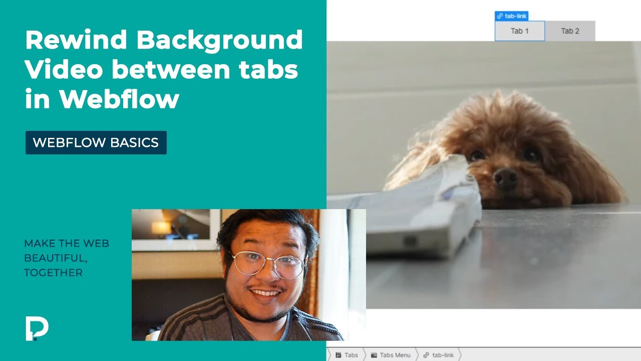Rewind Background Video between tabs in Webflow