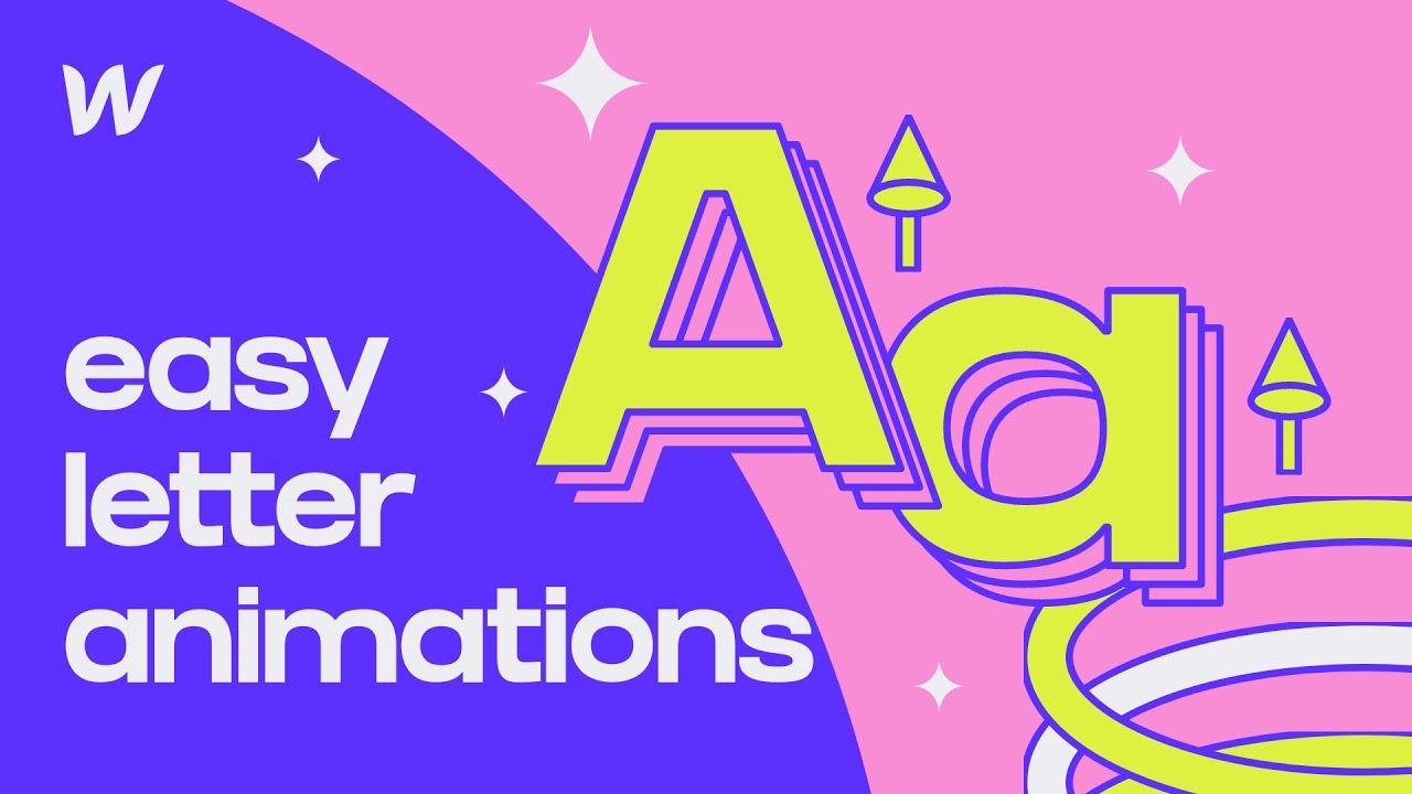 Easy Letter Animations in Webflow