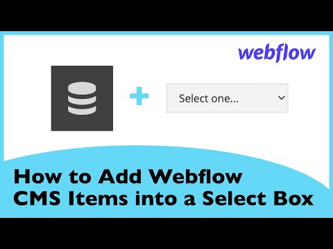 How to Add Webflow CMS Items into a Select Box