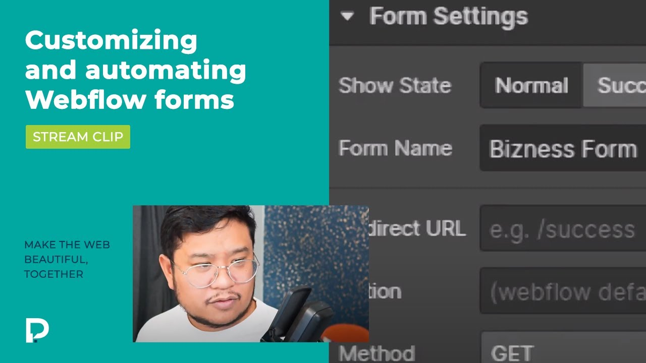 Customizing and automating Webflow forms - Stream Clip