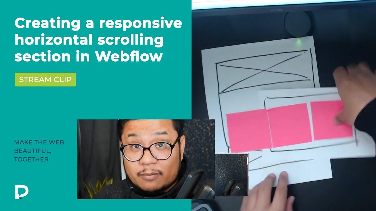 Responsive Horizontal scrolling in Webflow - Stream clip
