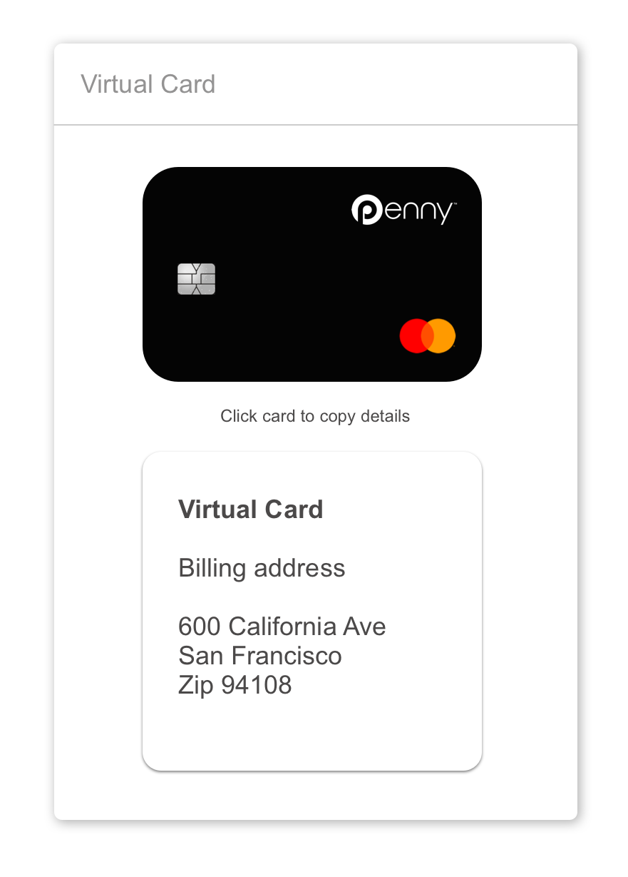 strong security penny debit card  and master card