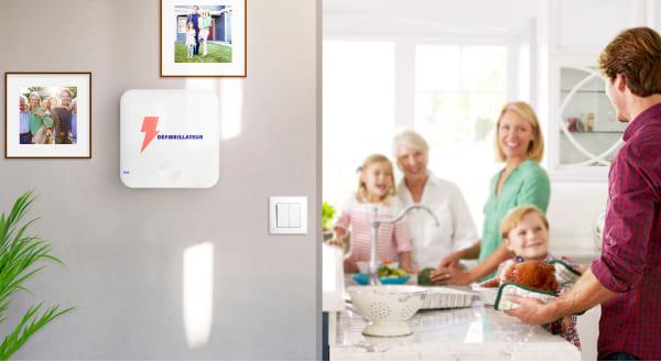 Notre défibrillateur Clark a un design adapté au domicile des particuliers