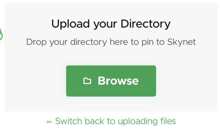 upload directory skynet