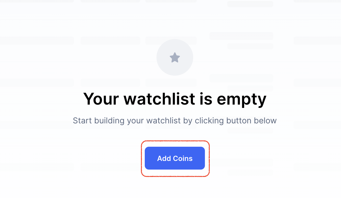 empty watchlist