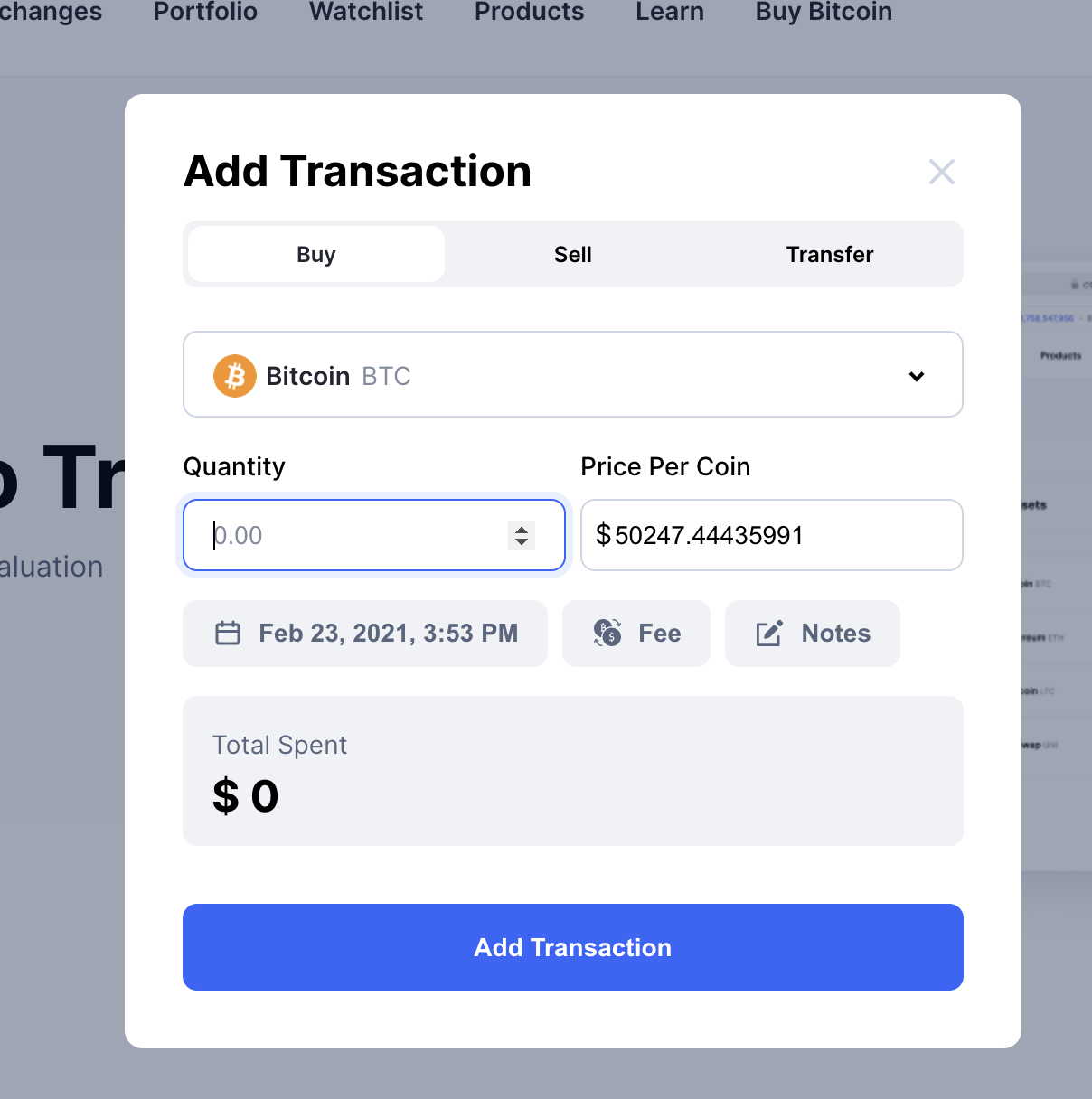 addtransaction