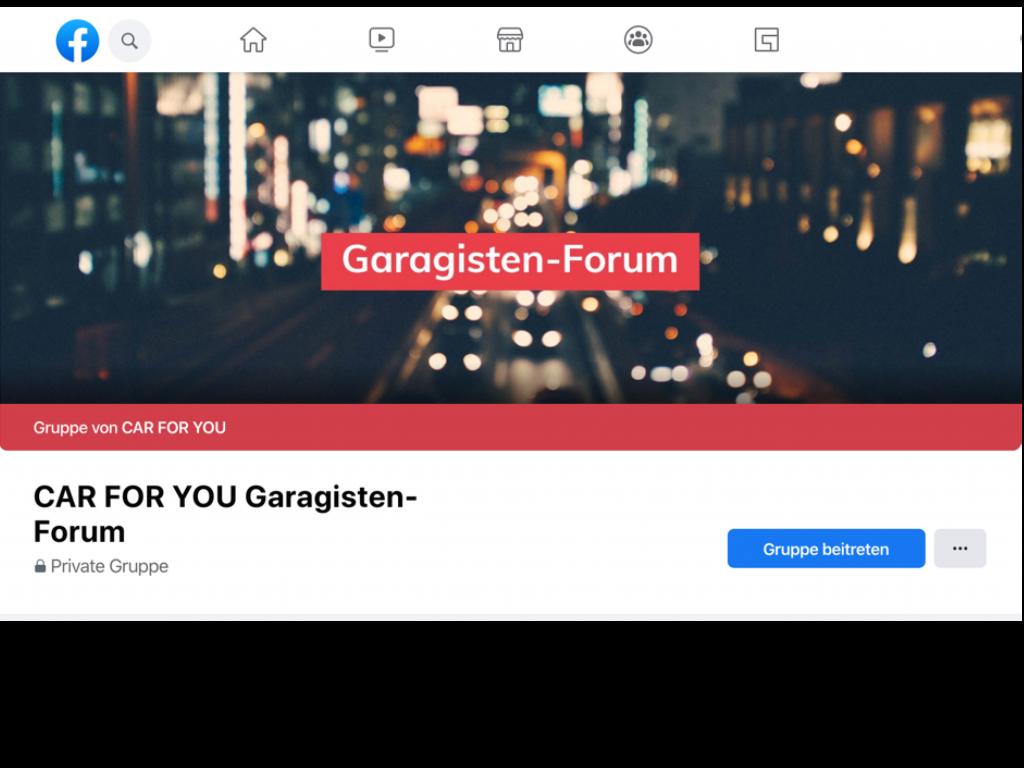 Garagisten Forum auf Facebook: Werden Sie jetzt Mitglied