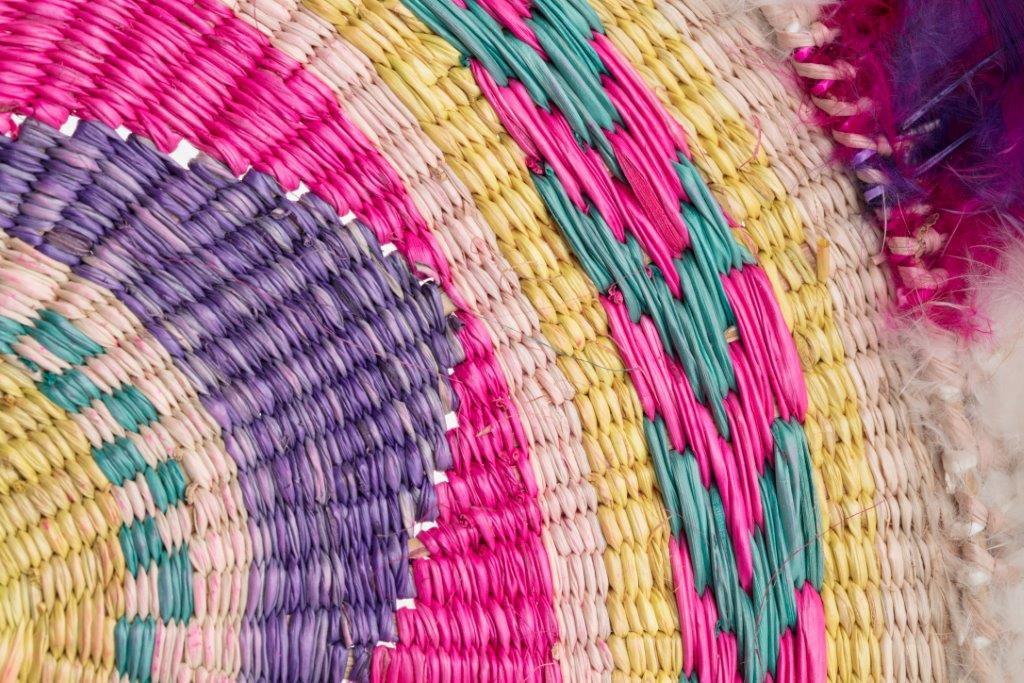 Colourful woven textile