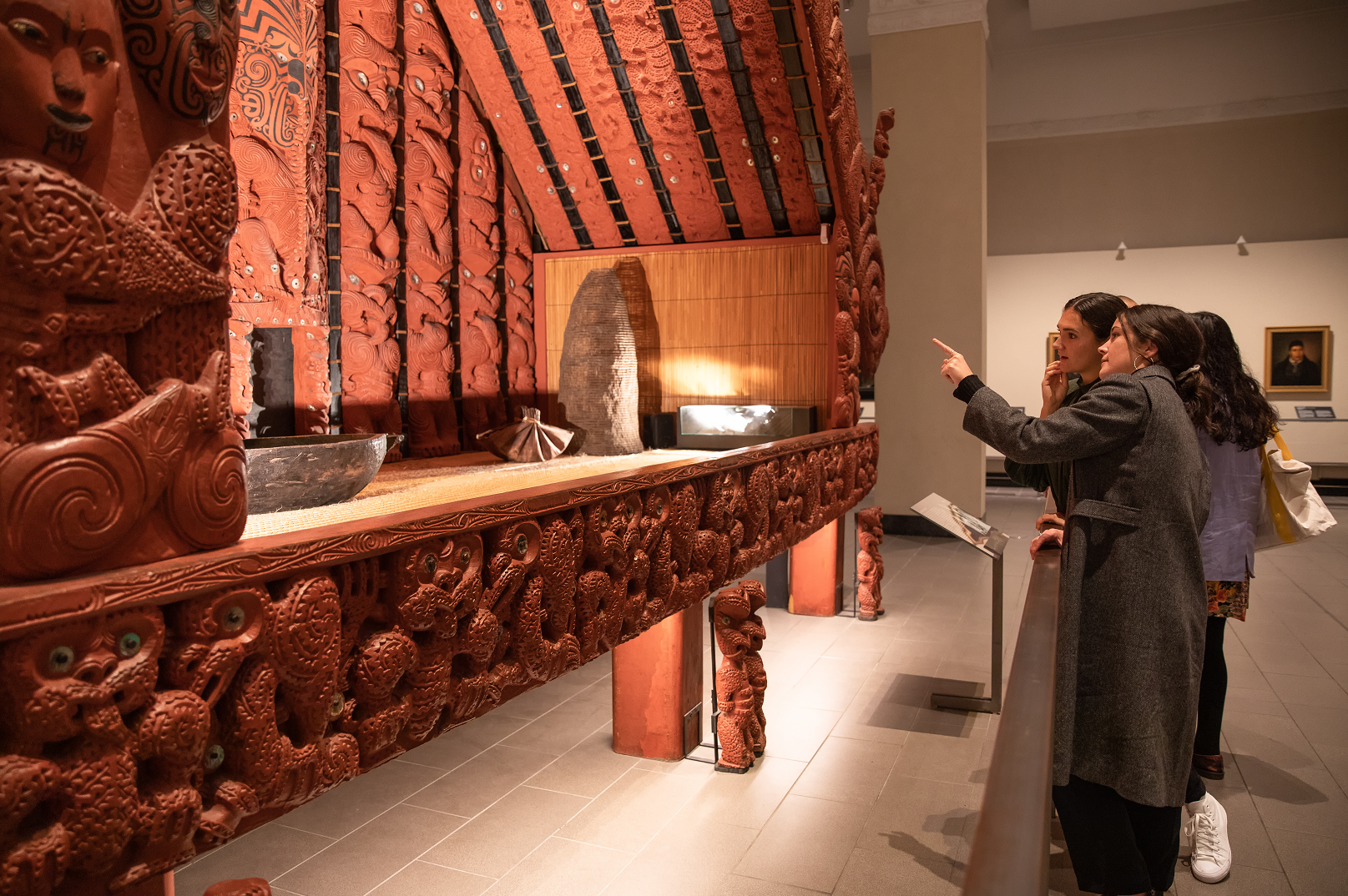 Visitors looking at Marae