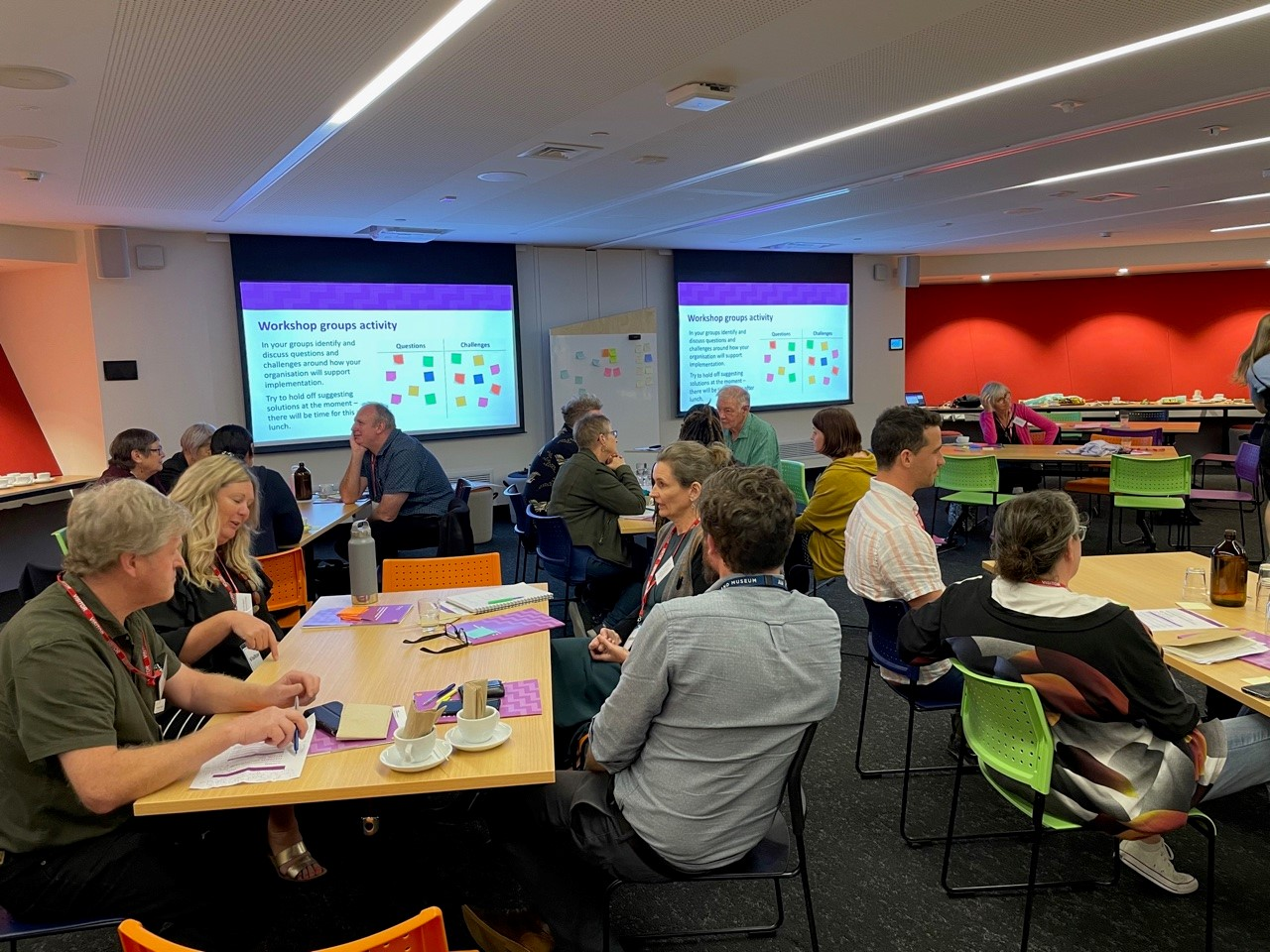 Teachers unpacking and discussing Aotearoa New Zealand's rich history during a professional development workshop.