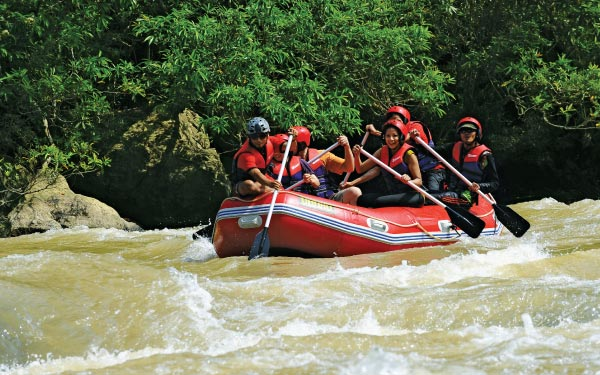 Caving & White Water Rafting**