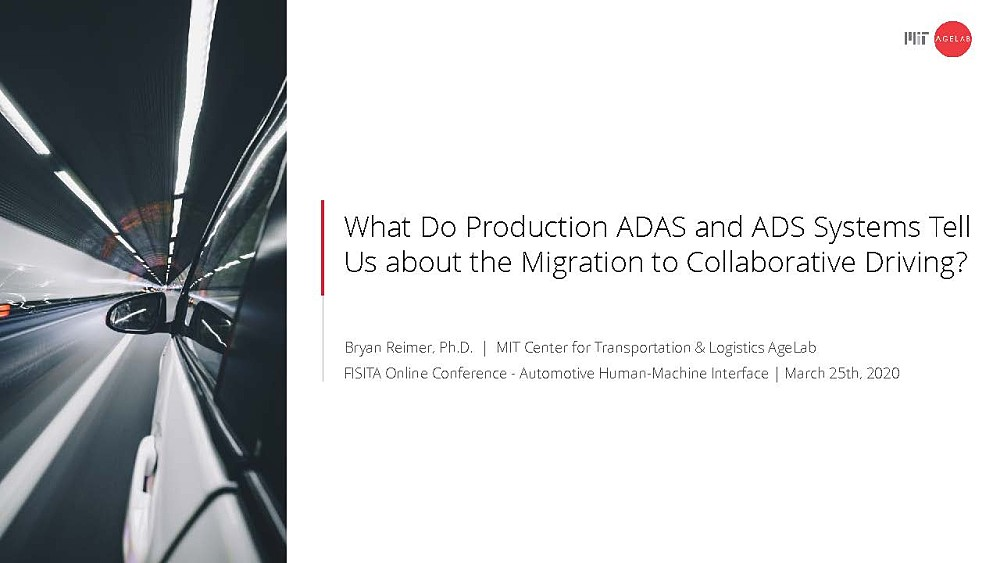 What Do Production ADAS and ADS Systems Tell Us About the Migration to Collaborative Driving