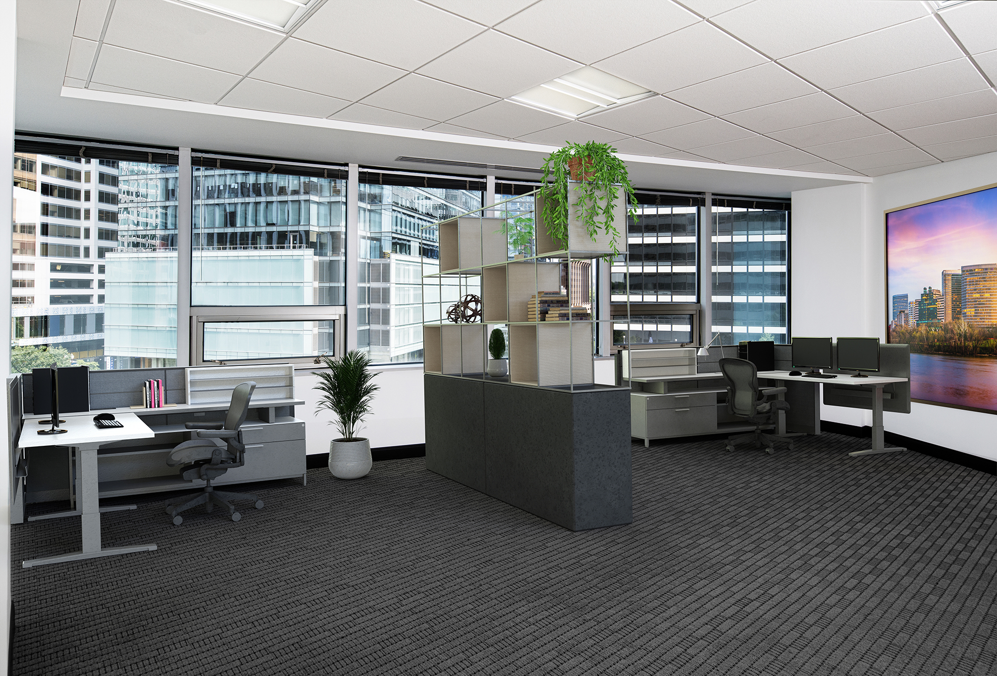 Shared Office * Virtual Staging