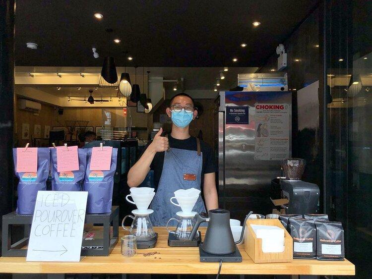 Kevin at Kona Coffee