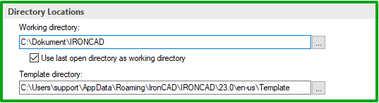 directory locations ironcad