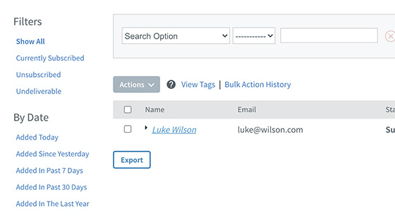 Syncs with AWeber lists automatically
