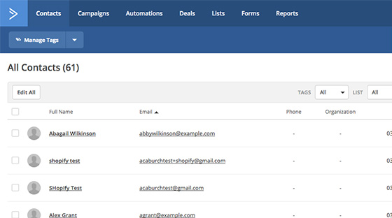 Syncs with ActiveCampaign lists automatically