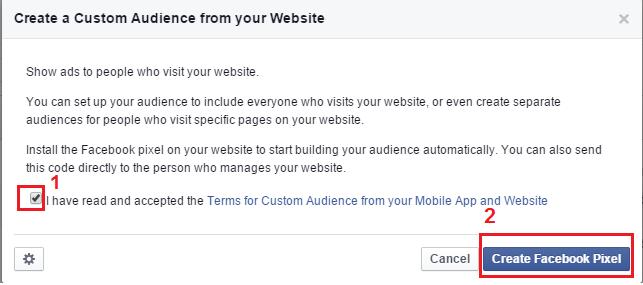 Facebook power editor customer audience terms