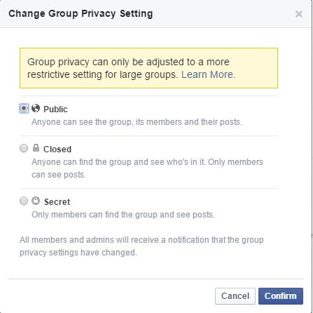 Facebook group edit group settings 2