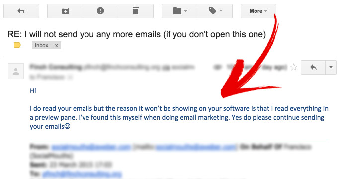 dump your email subscribers response