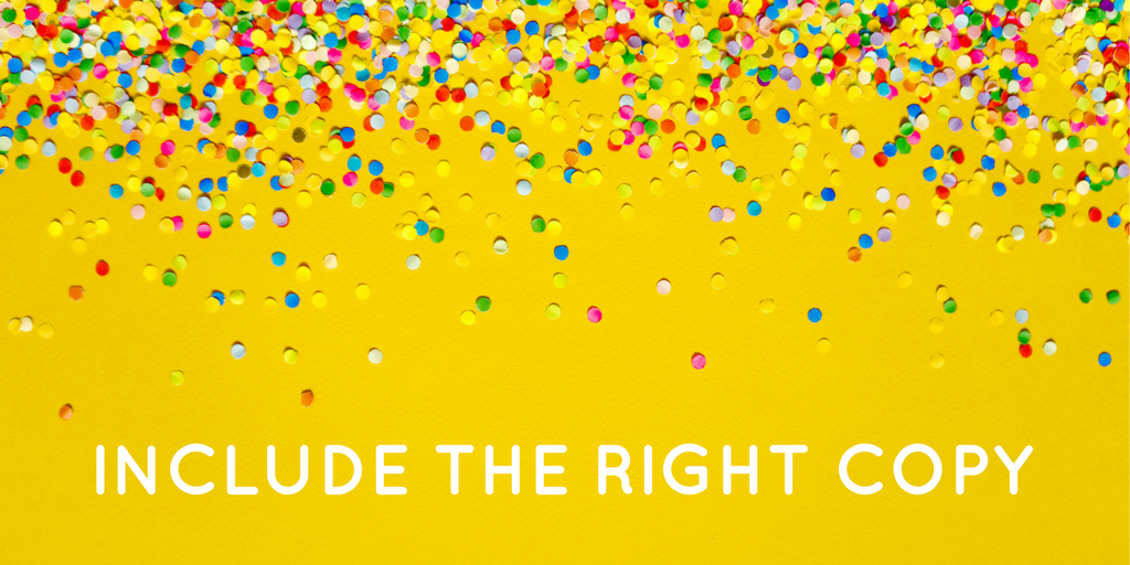 Include the right copy - welcome email tips