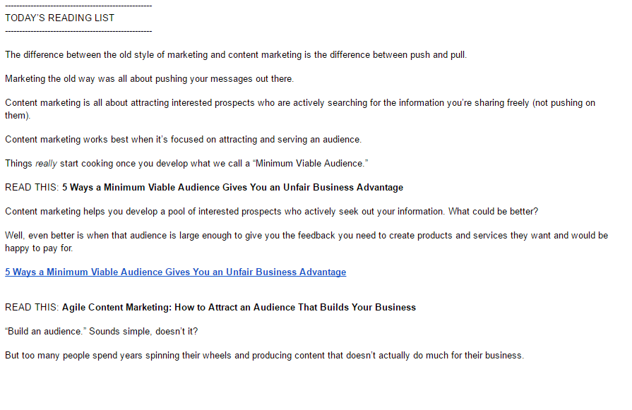 CopyBlogger welcome email part 2