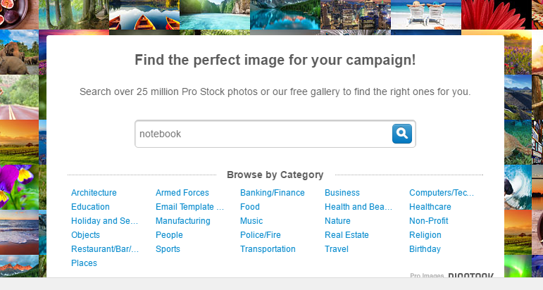 constant contact stock images