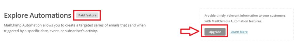 mailchimp automation upsell