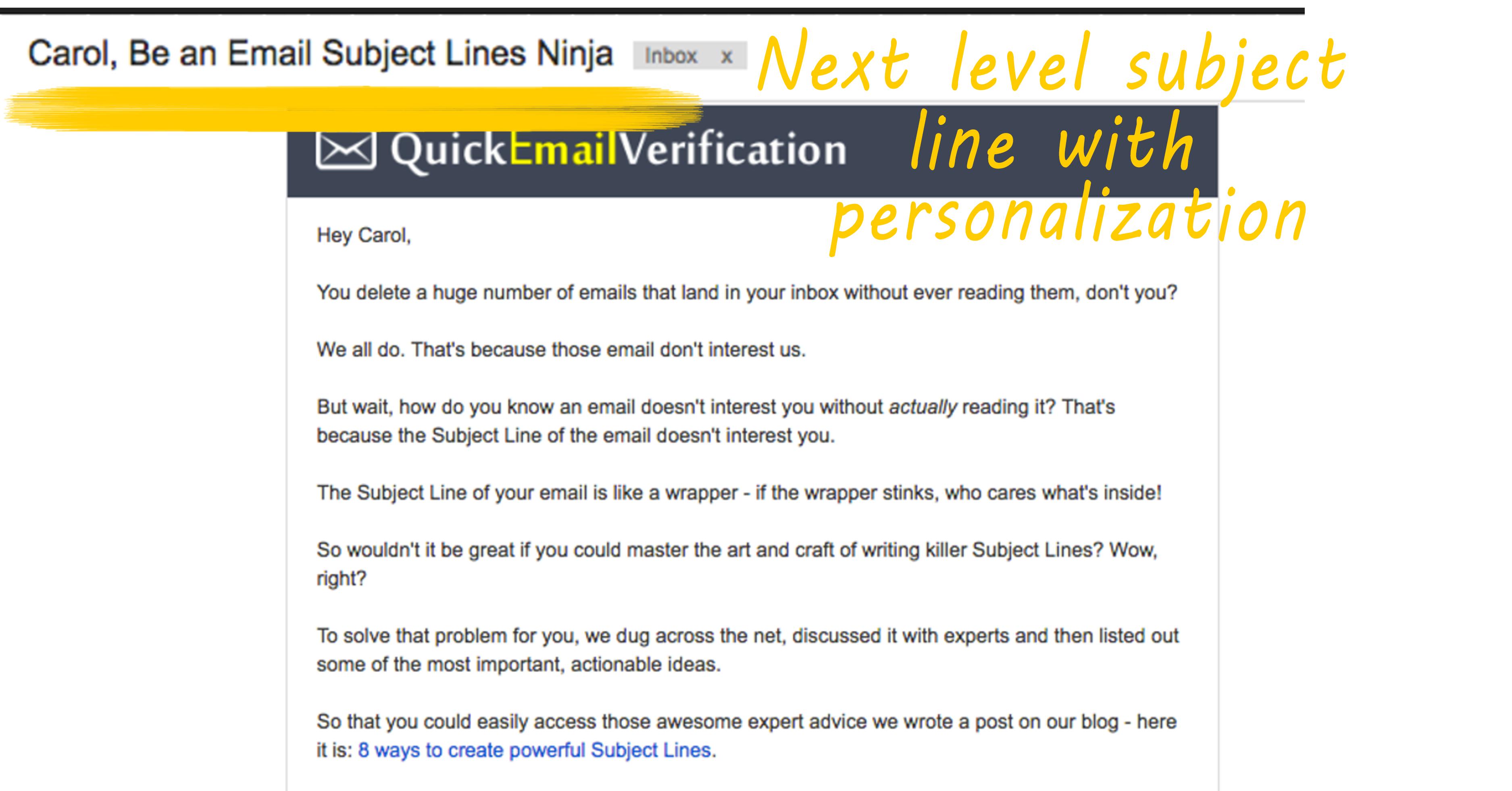 quick verification