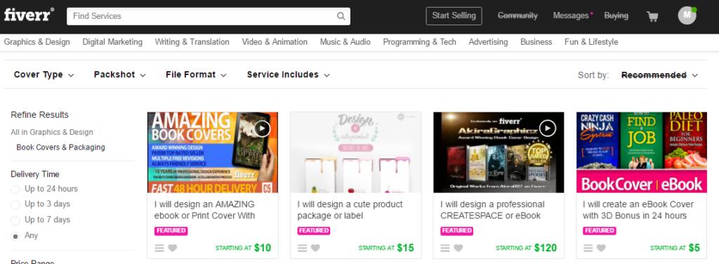 Fiverr ebook design