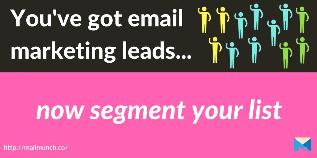 email marketing leads list segmentation header