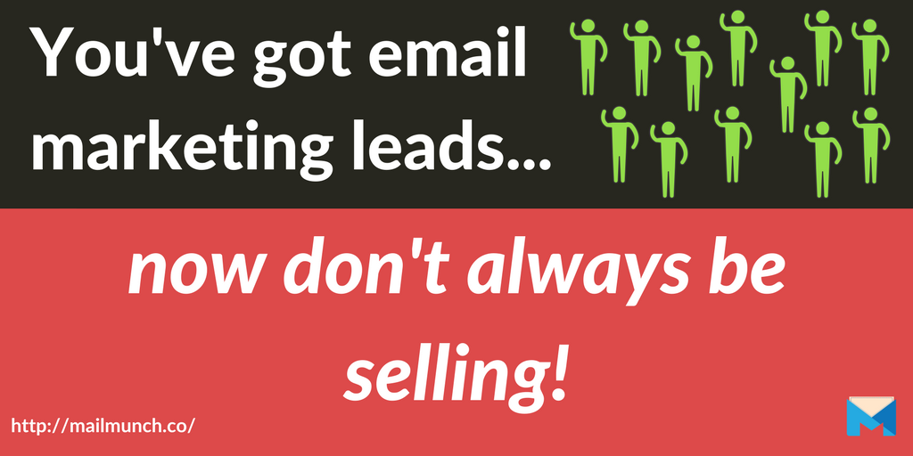 don't always sell email marketing leads post