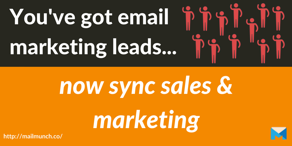 sales and marketing header email marketing list
