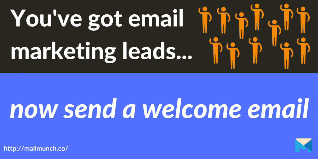 welcome email header email marketing leads
