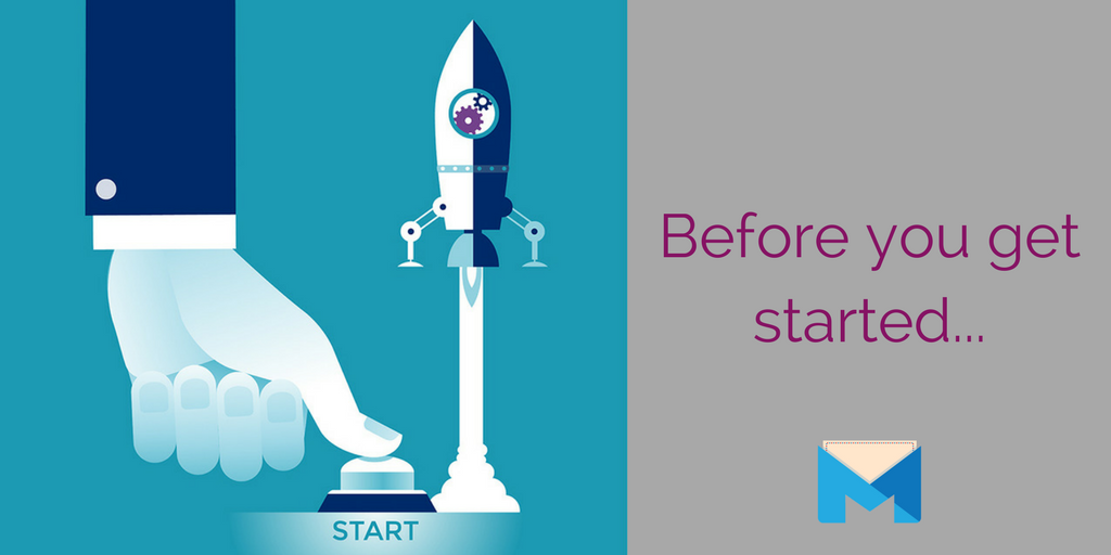 Before you start your online marketing campaign - rocket launch with start button