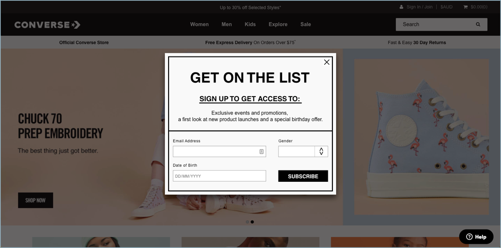 Converse - eCommerce Email Marketing