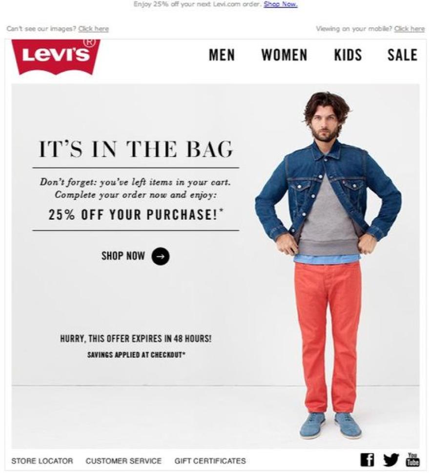 Levis - eCommerce Email Marketing