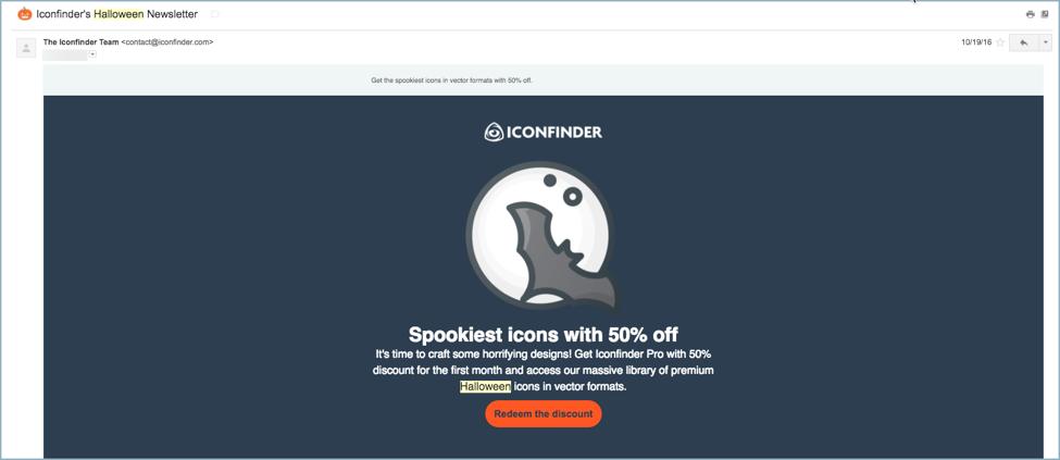 Iconfinder - eCommerce Email Marketing