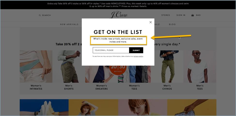 J Crew - eCommerce Email Marketing