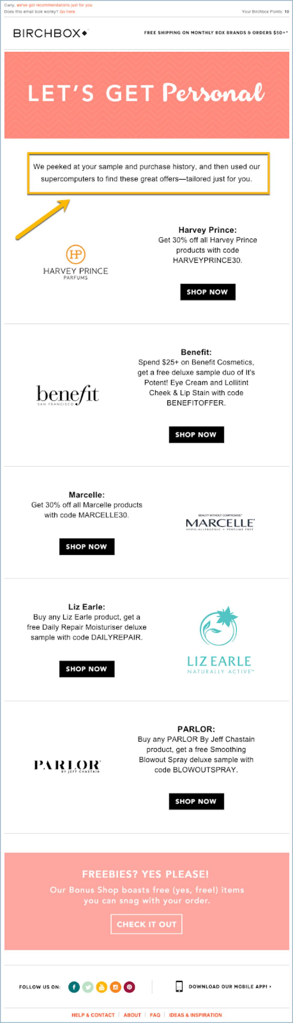 Birchbox - eCommerce Email Marketing