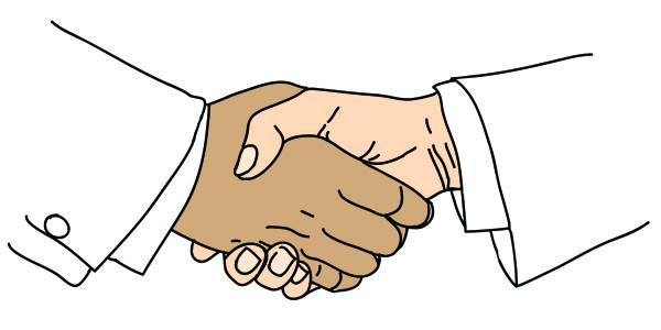 Boost your Shopify dropshipping success rate. Focus on customer loyalty - Two men shake hands.