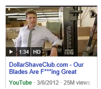 Dollar Shave Club Youtube Video