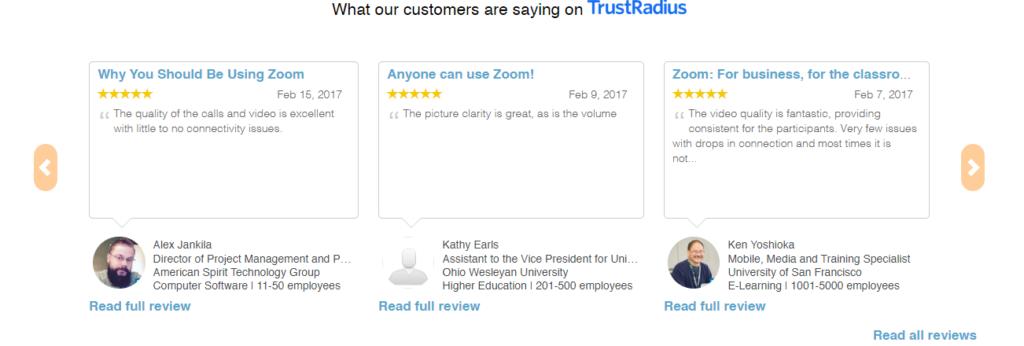 zoom below the fold customer reviews