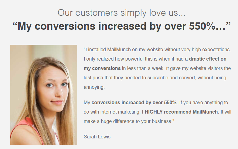 review by Sarah Lewis for MailMunch