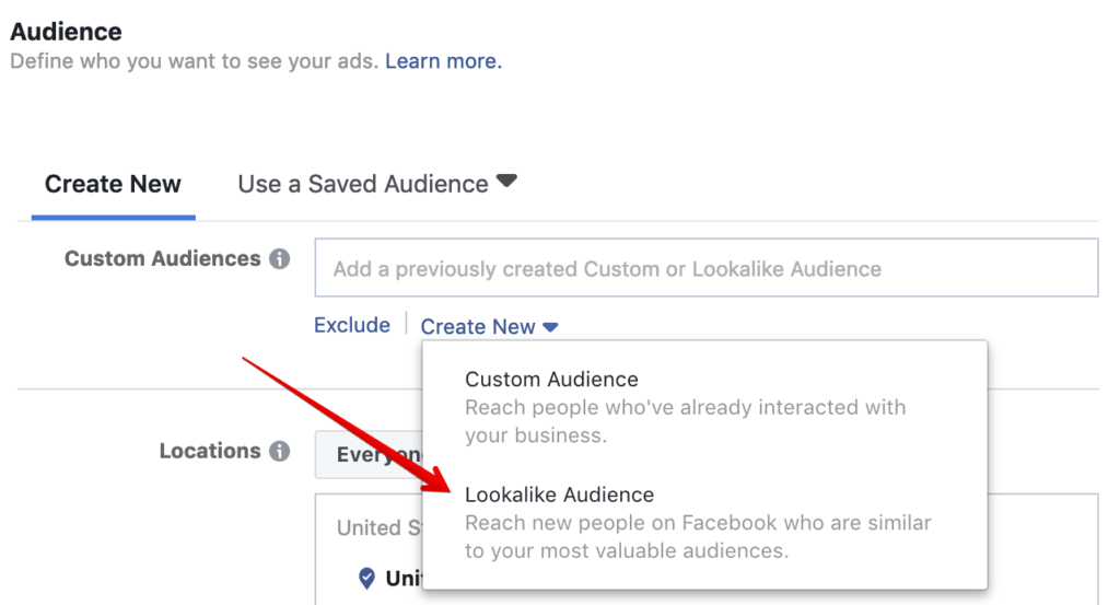 Audience Customisation Options