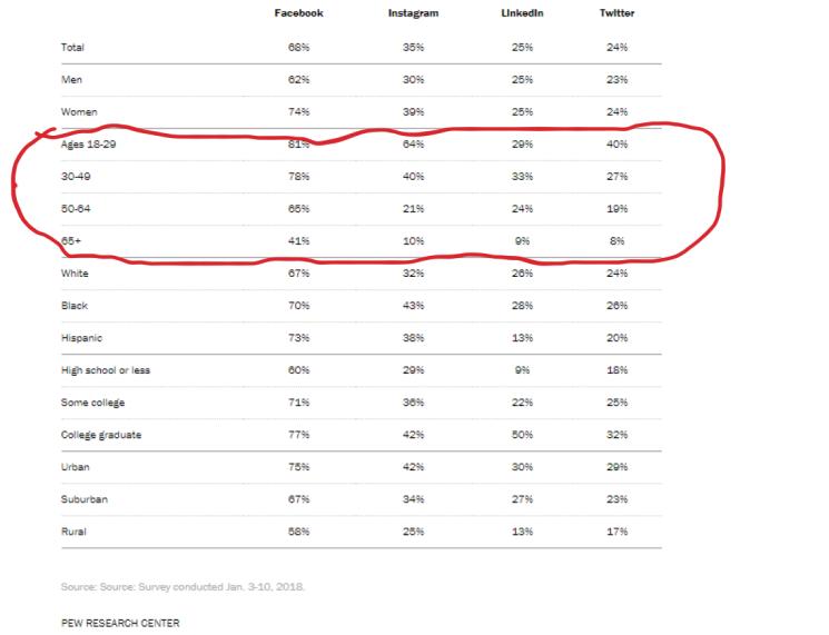social media stats by demographics