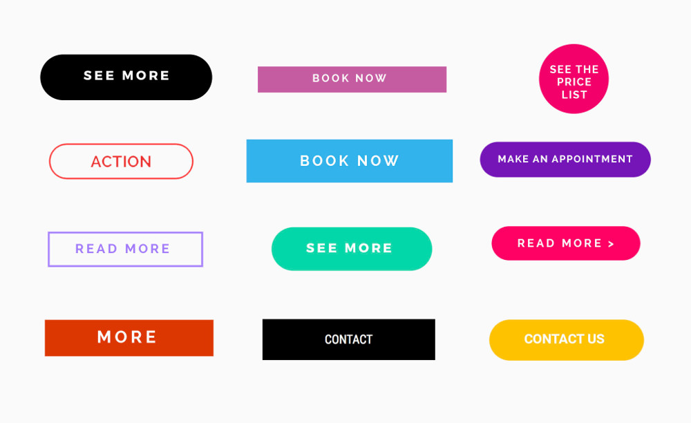 Call to action button examples