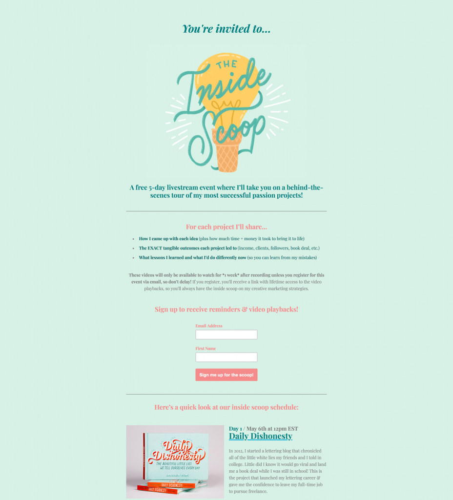 Hom Sweet Home Landing Page