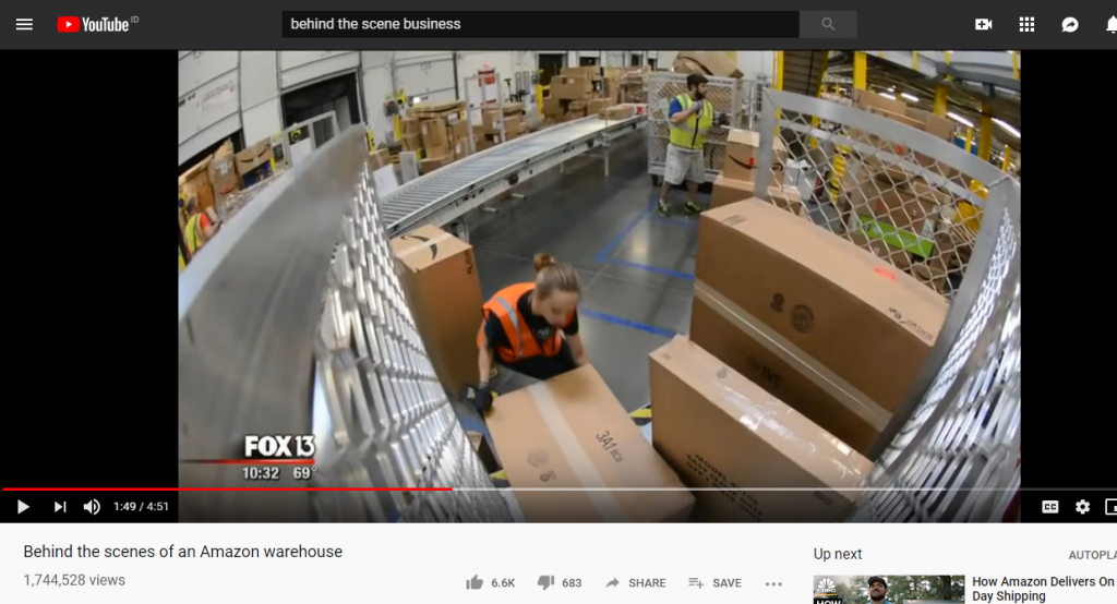 behind the scenes video by Amazon